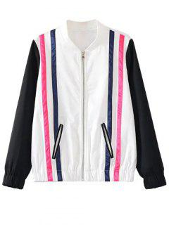 Striped Jacket - White And Black S