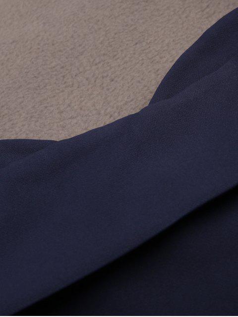 Robe cami midi a bretelle spaghetti - Bleu Foncé M Mobile