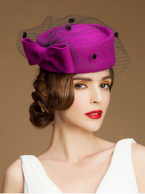 Grande del arco del velo del sombrero pastillero - Rojo purpúreo  Mobile