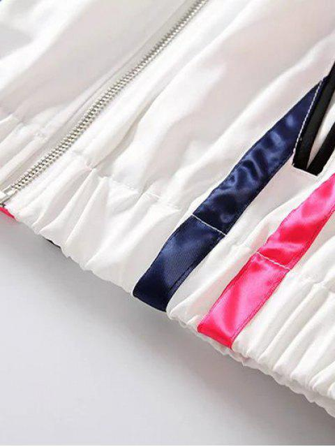 Veste courte rayée - Blanc et Noir M Mobile