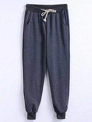 Drawstring Jogger Running Pants - Gray 4xl