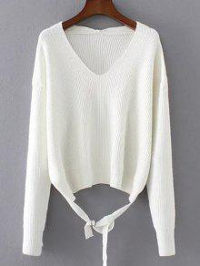 Loose String Sweater - White