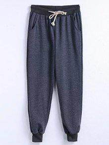 Drawstring Jogger Running Pants - Gray 3xl