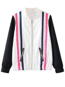 Striped Jacket - White And Black M