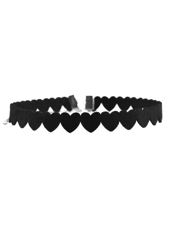 new Heart Velvet Choker - BLACK