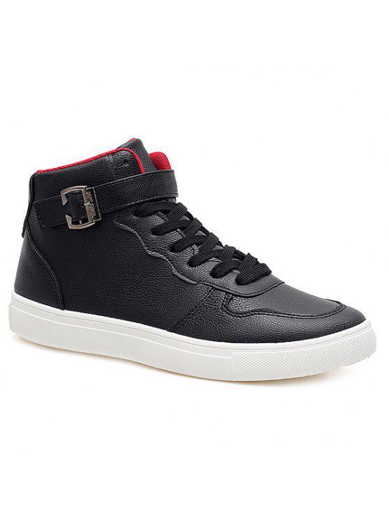التعادل حتى مشبك بو الجلود الأحذية - أسود 40