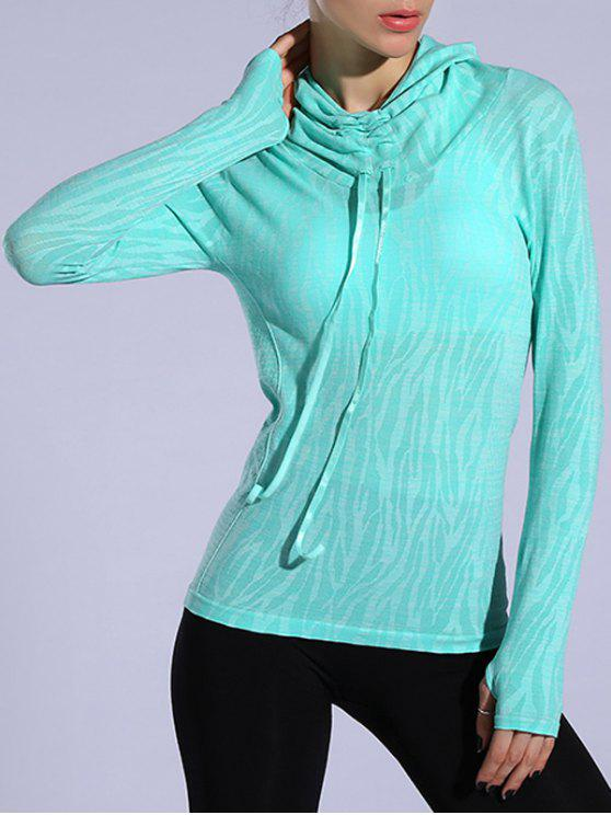 new Dry-Quick Heathered Drawstring Hoodie - LIGHT GREEN M