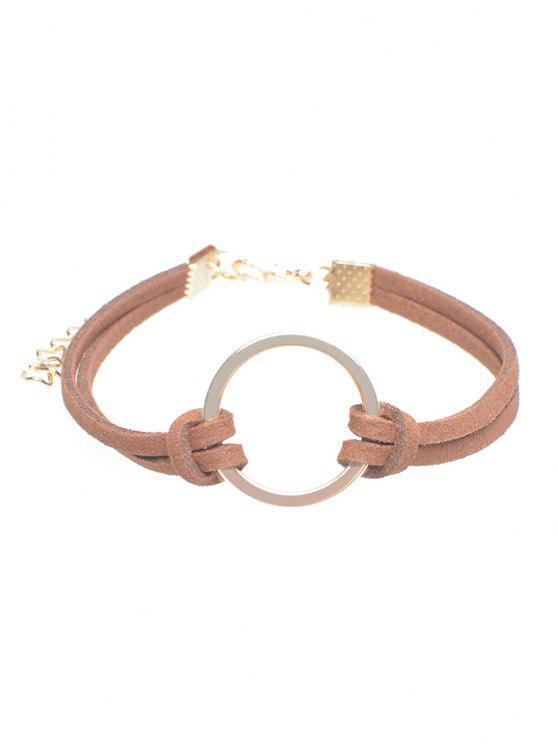 Pulsera del anillo de terciopelo - Marrón Antiguo