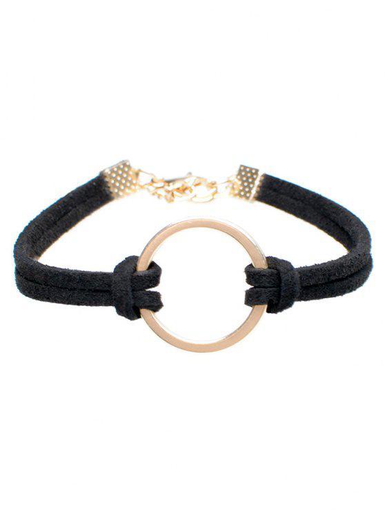 Pulsera del anillo de terciopelo - Negro