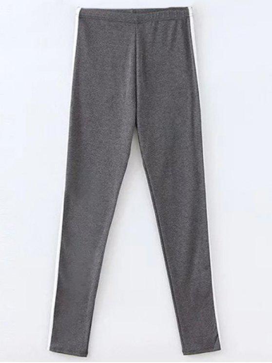 Los pantalones elásticos de la cintura de gimnasia - Gris Oscuro Única Talla