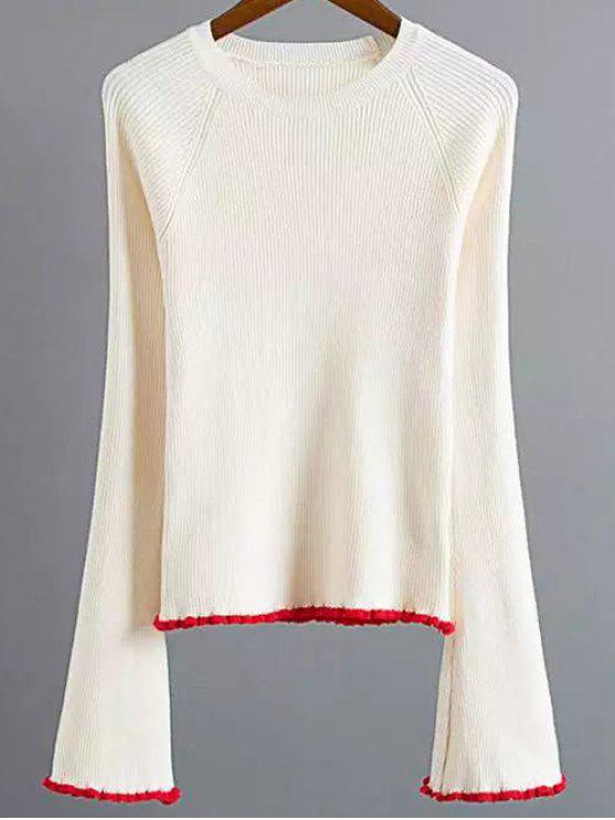 shop Stretchy Flare Sleeve Knitwear - OFF-WHITE S