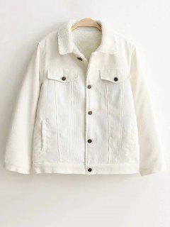 Boutonnée Sherpa Jacket - Blanc S