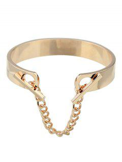 Bar Chain Charm Bangle - Champagne