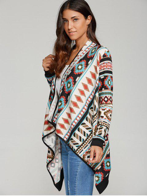 Cardigan à imprimé géométrique contrasté - Multicolore XL Mobile