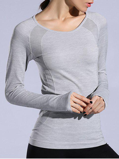 fashion Gloved Long Sleeve Quick Dry T-Shirt -   Mobile