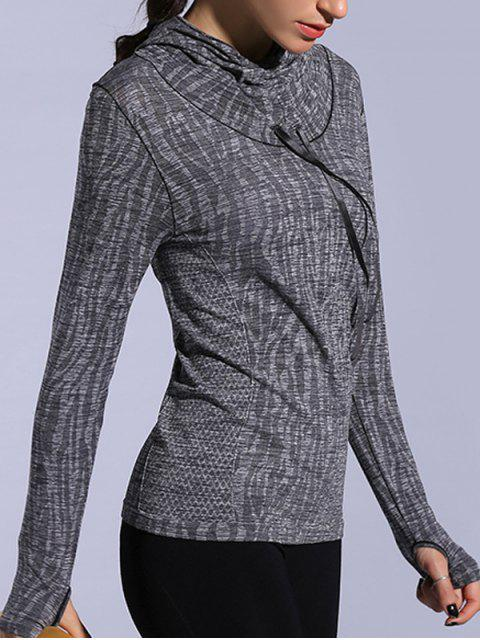 lady Dry-Quick Heathered Drawstring Hoodie -   Mobile