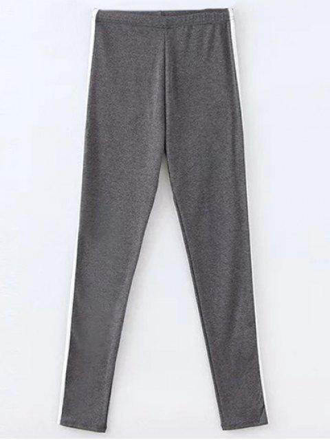 online Elastic Waist Gym Pants - DEEP GRAY ONE SIZE Mobile