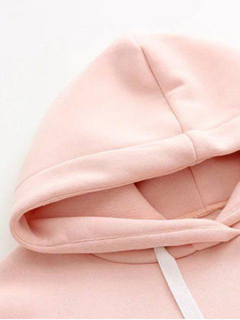 hot Pocket Embroidered Hoodie - PINK S Mobile