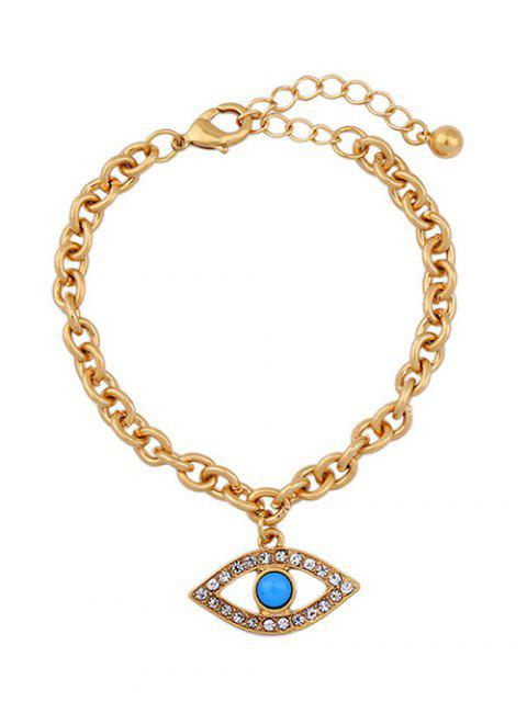 chic Rhinestone Hollow Eye Bracelet - GOLDEN  Mobile