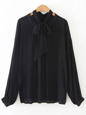 Bowknot OL Sheer Blouse - Black S