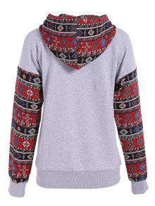 2e948a981 Front Pocket Tribal Pattern Hoodie  Front Pocket Tribal Pattern Hoodie ...