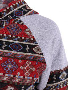 701c6ed60 61% OFF  2019 Front Pocket Tribal Pattern Hoodie In COLORMIX