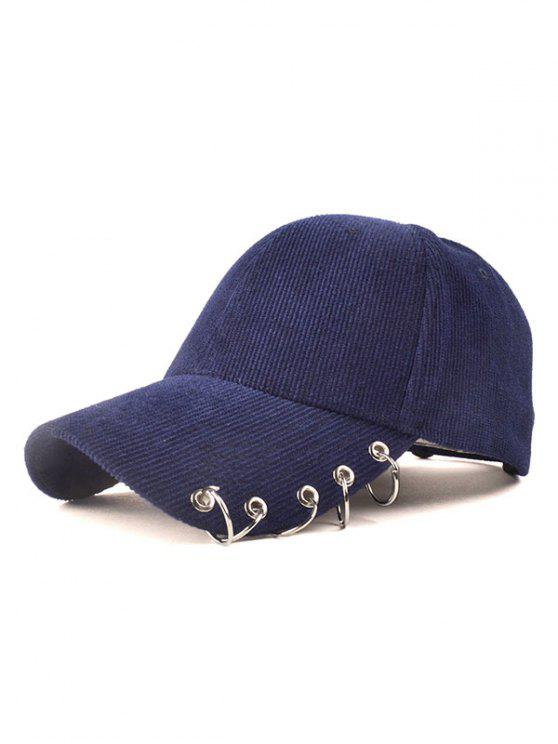 best Circle Hoop Corduroy Baseball Hat - CADETBLUE