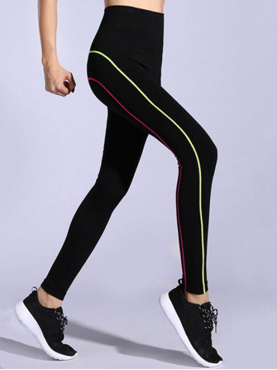 829b09975448a 25% OFF] 2019 Contrast-Trim Stretchy Gym Leggings In PINK + GREEN ...