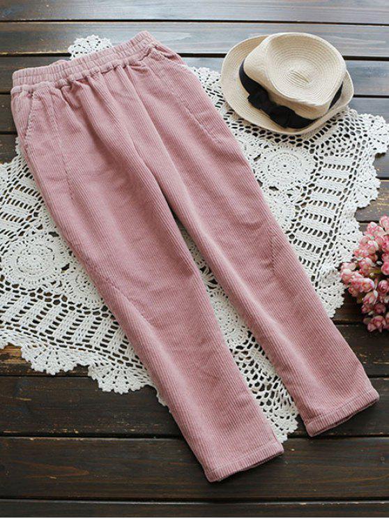 Pantalons en velours - ROSE PÂLE L