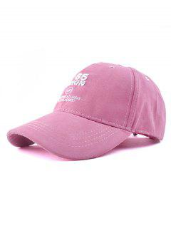 N 85 Embroidery Faux Suede Baseball Hat - Peach Pink