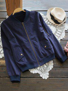 Zipper Field Jacket - Sapphire Blue M