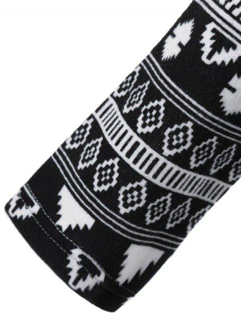 trendy Long Tribal Sleeve T-Shirt - LIGHT GRAY M Mobile