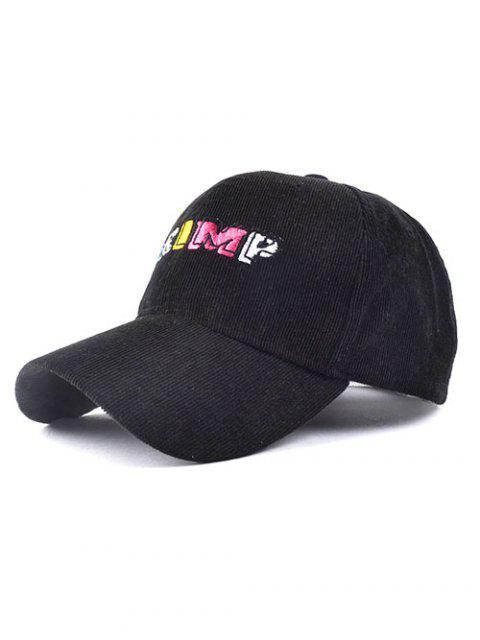latest CRIMP Embroidery Corduroy Baseball Hat - BLACK  Mobile