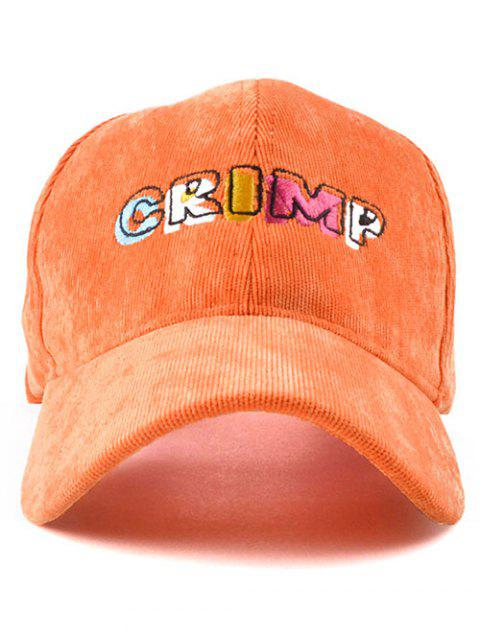 chic CRIMP Embroidery Corduroy Baseball Hat -   Mobile