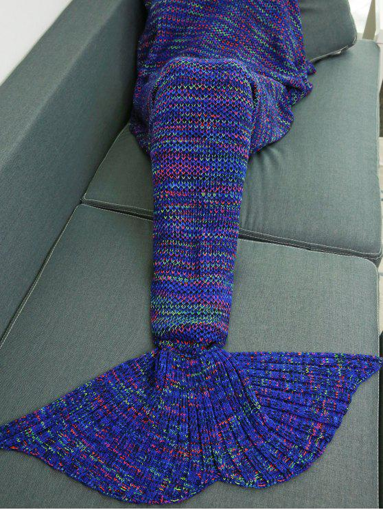 الملونة الكروشيه الحياكة حورية البحر الذيل تصميم بطانية - Colormix W31.50inch * L70.70inch