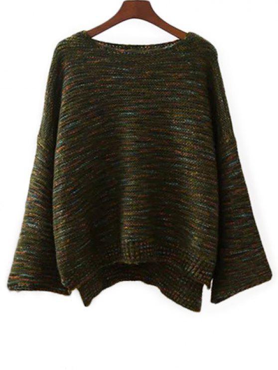 Marled suéter de gran tamaño - Verde Única Talla