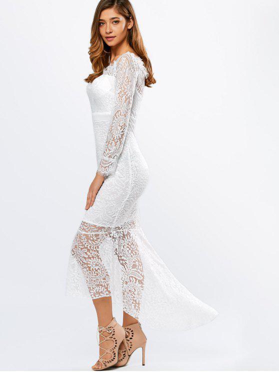 Women in see through dress