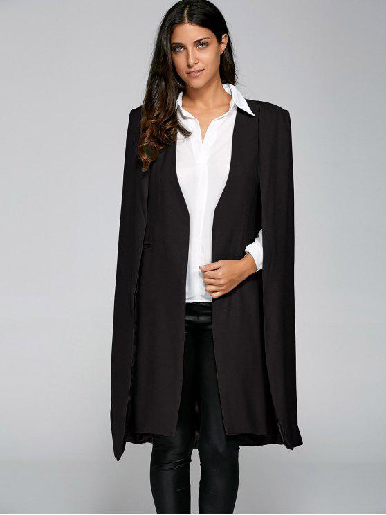 sale Loose Cape Cloak Overcoat - BLACK M