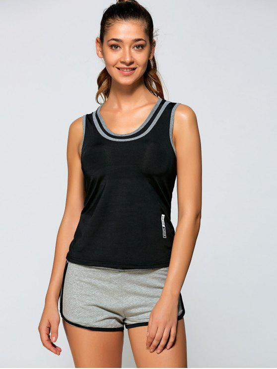 Tank Top Sports + Pantalons courts - Noir L