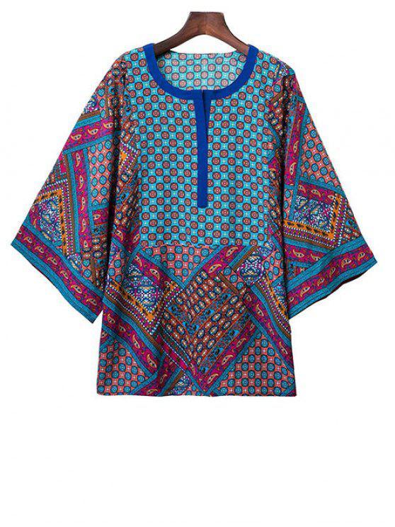 womens Kimono Sleeve Boho Top - COLORMIX S