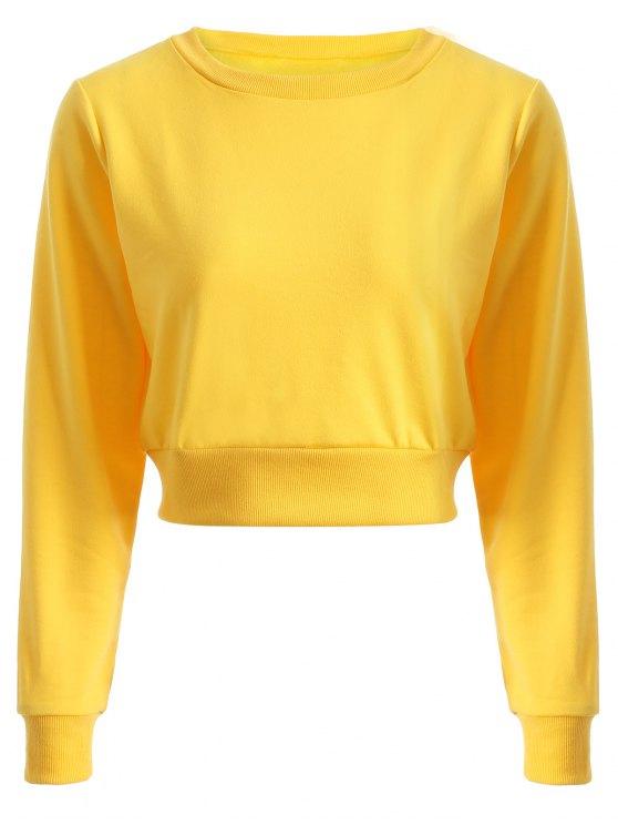 Deportes ocasional recortada con capucha - Amarillo M