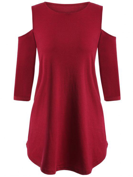 Suelta con hombros de la camiseta - Rojo S