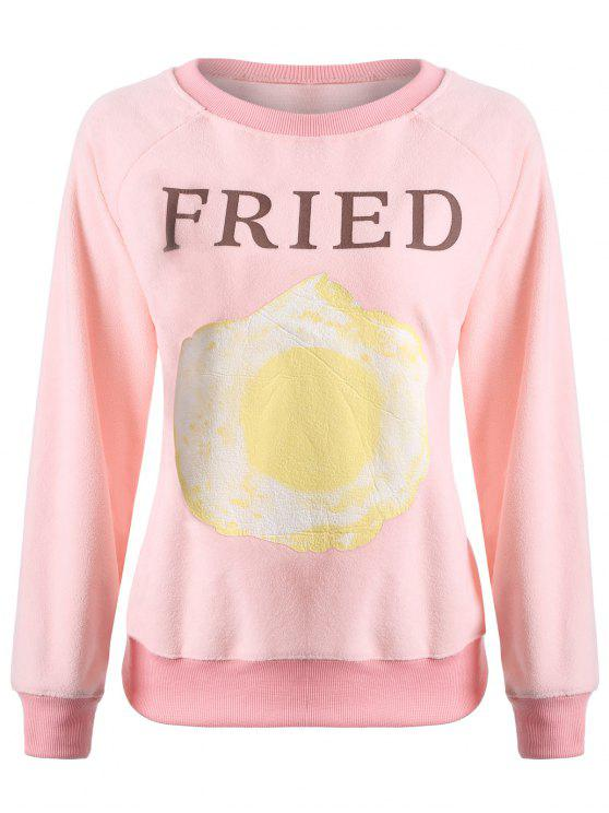 new Letter Print Cute Sweatshirt - PINK L
