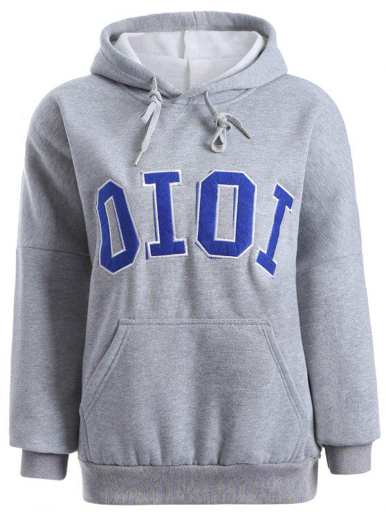 new Oioi Graphic Hoodie - GRAY ONE SIZE