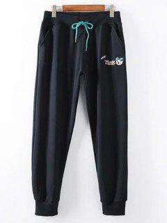 Pantalon De Jogging De Grande Taille Avec Lien Coulissant - Noir 2xl
