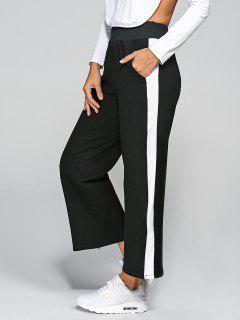 Slit Stripes Active Pants - Black