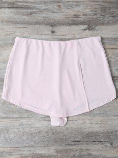 Slit Culotte Skinny Shorts - Shallow Pink Xl