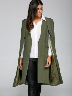 Loose Cape Cloak Overcoat - Army Green S