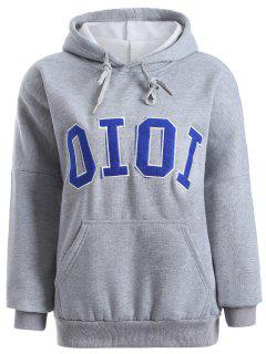 Hoodie Avec Broderie Oioi  - Gris