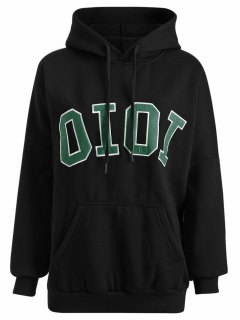 Oioi Graphic Hoodie - Black